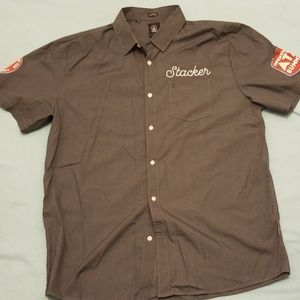 Volcom XL Classic Fit short sleeve button up Stack